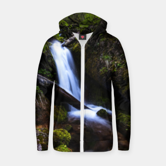 Thumbnail image of Waterfall in enchanted forest Zip up hoodie, Live Heroes