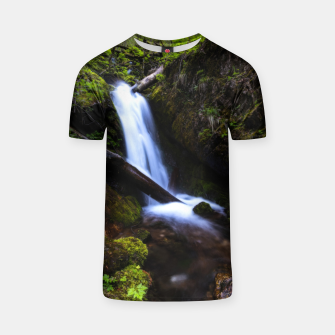 Thumbnail image of Waterfall in enchanted forest T-shirt, Live Heroes