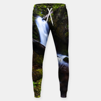 Thumbnail image of Waterfall in enchanted forest Sweatpants, Live Heroes