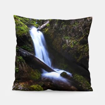 Thumbnail image of Waterfall in enchanted forest Pillow, Live Heroes