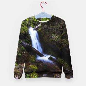 Thumbnail image of Waterfall in enchanted forest Kid's sweater, Live Heroes