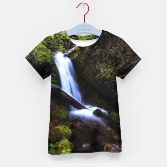 Thumbnail image of Waterfall in enchanted forest Kid's t-shirt, Live Heroes