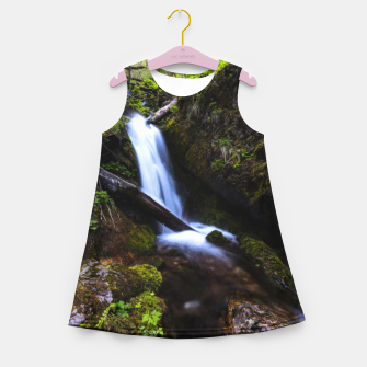 Thumbnail image of Waterfall in enchanted forest Girl's summer dress, Live Heroes