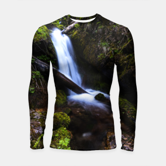 Thumbnail image of Waterfall in enchanted forest Longsleeve rashguard , Live Heroes