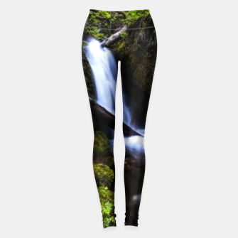 Thumbnail image of Waterfall in enchanted forest Leggings, Live Heroes