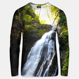 Miniatur Stuning waterfall with sunlight glow Unisex sweater, Live Heroes