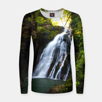 Miniatur Stuning waterfall with sunlight glow Women sweater, Live Heroes