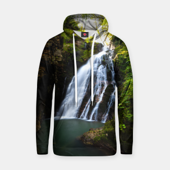 Miniatur Stuning waterfall with sunlight glow Hoodie, Live Heroes