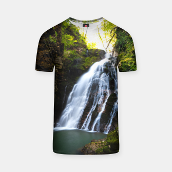 Miniatur Stuning waterfall with sunlight glow T-shirt, Live Heroes