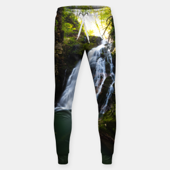 Miniatur Stuning waterfall with sunlight glow Sweatpants, Live Heroes