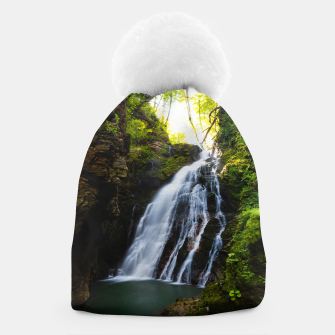 Miniatur Stuning waterfall with sunlight glow Beanie, Live Heroes