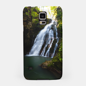 Thumbnail image of Stuning waterfall with sunlight glow Samsung Case, Live Heroes