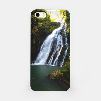 Miniatur Stuning waterfall with sunlight glow iPhone Case, Live Heroes