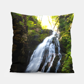 Miniatur Stuning waterfall with sunlight glow Pillow, Live Heroes