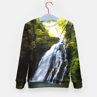 Thumbnail image of Stuning waterfall with sunlight glow Kid's sweater, Live Heroes
