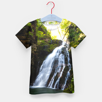 Thumbnail image of Stuning waterfall with sunlight glow Kid's t-shirt, Live Heroes