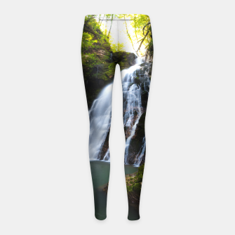 Miniatur Stuning waterfall with sunlight glow Girl's leggings, Live Heroes