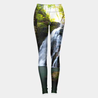 Miniatur Stuning waterfall with sunlight glow Leggings, Live Heroes