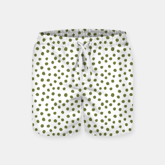 Miniaturka Green Dots on White Swim Shorts, Live Heroes