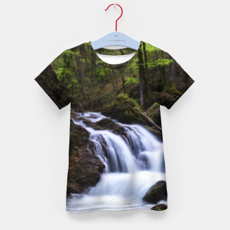 Thumbnail image of Magical waterfall in gorge Hell Kid's t-shirt, Live Heroes
