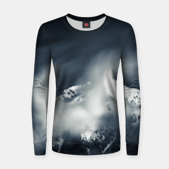 Thumbnail image of Darkness and chaos over the mountain Women sweater, Live Heroes