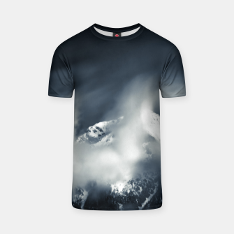 Thumbnail image of Darkness and chaos over the mountain T-shirt, Live Heroes