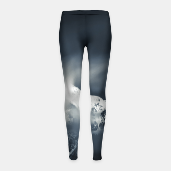 Thumbnail image of Darkness and chaos over the mountain Girl's leggings, Live Heroes