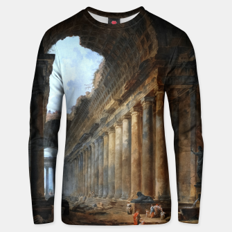 Thumbnail image of The Old Temple by Hubert Robert Old Masters Reproduction Unisex sweater, Live Heroes