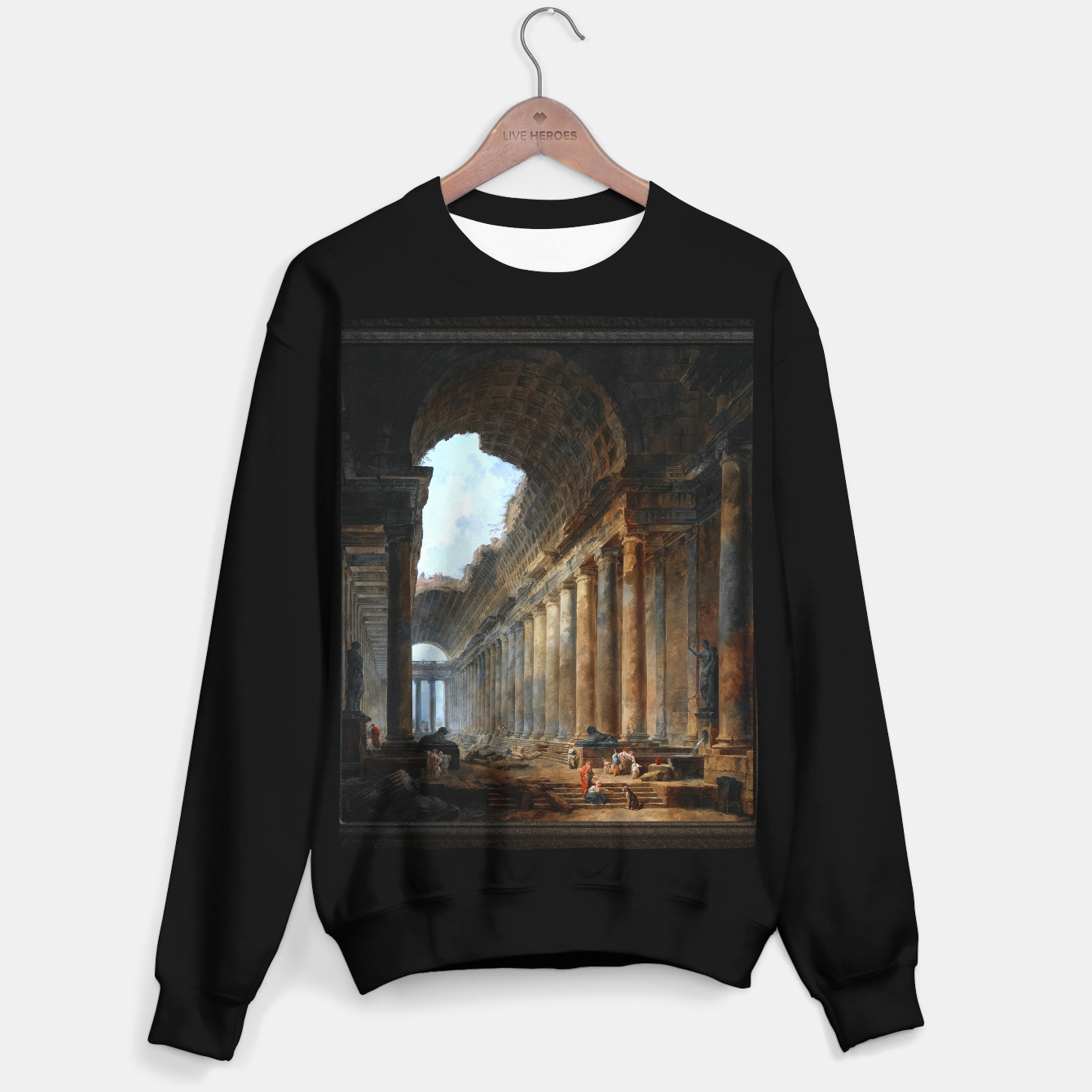 Zdjęcie The Old Temple by Hubert Robert Old Masters Reproduction Sweater regular - Live Heroes