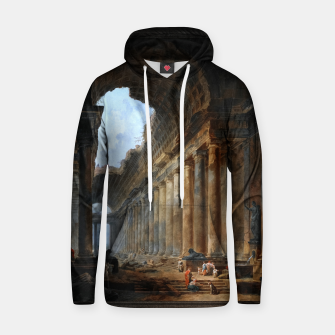 Thumbnail image of The Old Temple by Hubert Robert Old Masters Reproduction Hoodie, Live Heroes