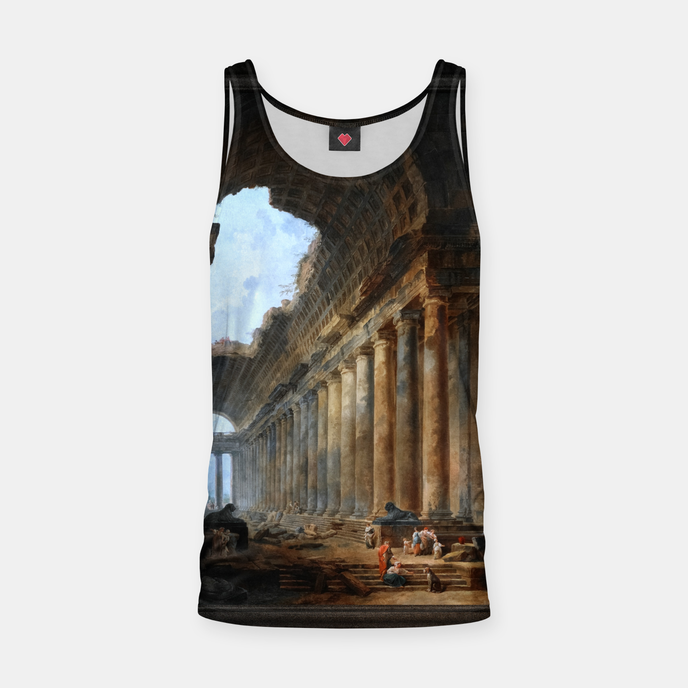 Zdjęcie The Old Temple by Hubert Robert Old Masters Reproduction Tank Top - Live Heroes