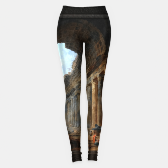 Miniaturka The Old Temple by Hubert Robert Old Masters Reproduction Leggings, Live Heroes