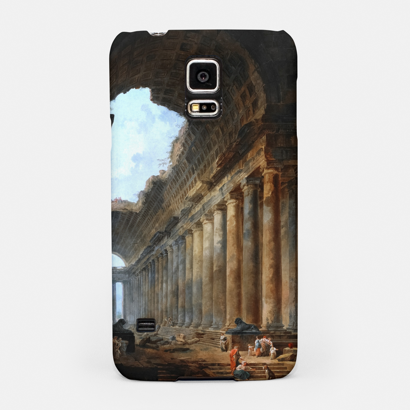 Image of The Old Temple by Hubert Robert Old Masters Reproduction Samsung Case - Live Heroes