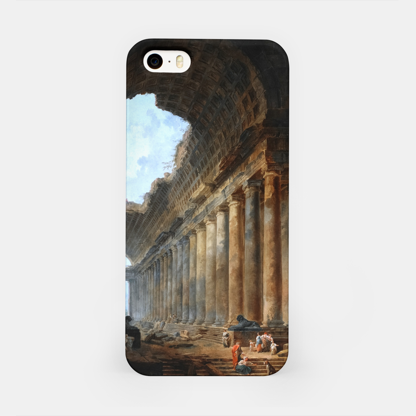 Image of The Old Temple by Hubert Robert Old Masters Reproduction iPhone Case - Live Heroes