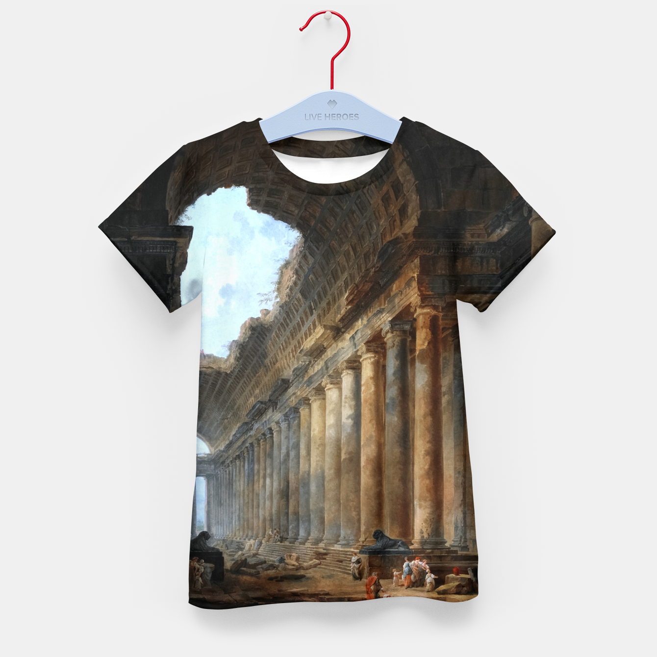 Zdjęcie The Old Temple by Hubert Robert Old Masters Reproduction Kid's t-shirt - Live Heroes