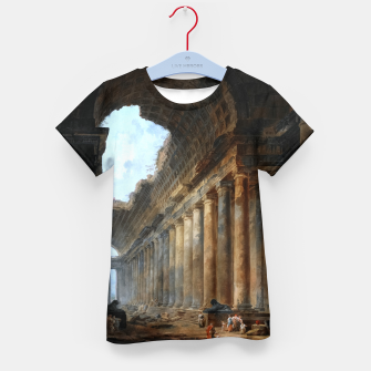 The Old Temple by Hubert Robert Old Masters Reproduction Kid's t-shirt obraz miniatury