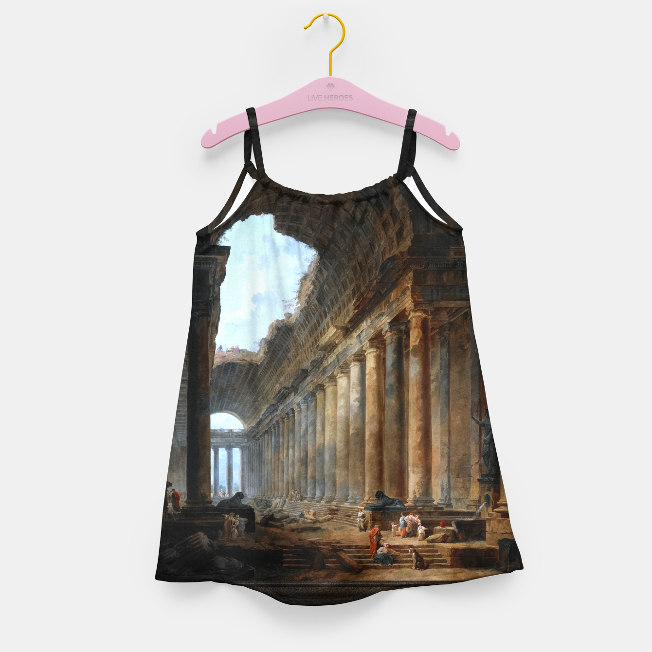 Zdjęcie The Old Temple by Hubert Robert Old Masters Reproduction Girl's dress - Live Heroes