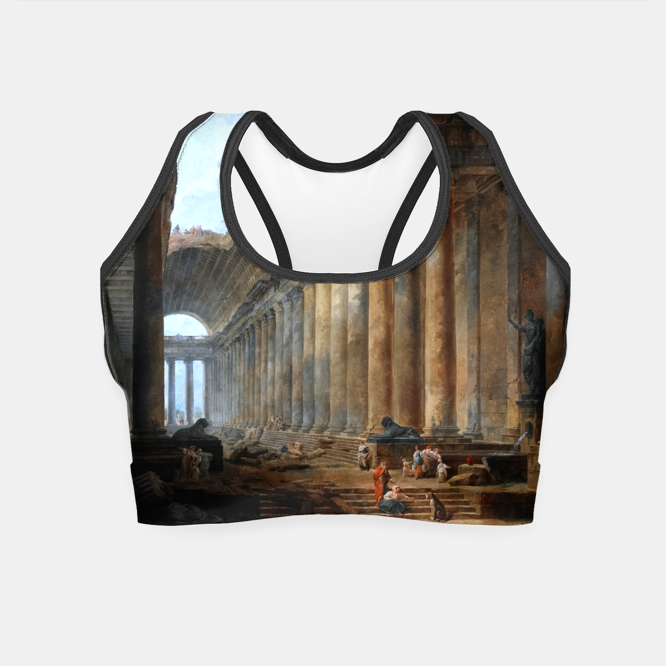 Zdjęcie The Old Temple by Hubert Robert Old Masters Reproduction Crop Top - Live Heroes