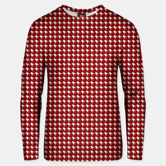 Thumbnail image of Dark Christmas Candy Apple Red Houndstooth Check Unisex sweater, Live Heroes