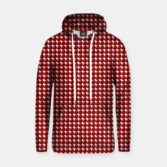 Thumbnail image of Dark Christmas Candy Apple Red Houndstooth Check Hoodie, Live Heroes