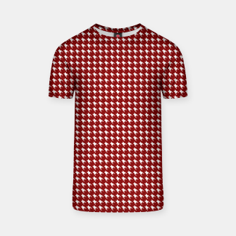 Thumbnail image of Dark Christmas Candy Apple Red Houndstooth Check T-shirt, Live Heroes