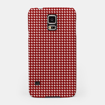 Thumbnail image of Dark Christmas Candy Apple Red Houndstooth Check Samsung Case, Live Heroes