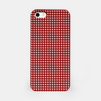 Thumbnail image of Dark Christmas Candy Apple Red Houndstooth Check iPhone Case, Live Heroes
