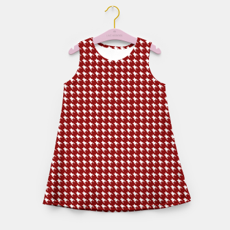 Thumbnail image of Dark Christmas Candy Apple Red Houndstooth Check Girl's summer dress, Live Heroes