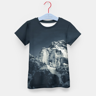 Thumbnail image of Darkness and mountain Kid's t-shirt, Live Heroes