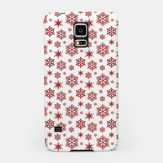 Thumbnail image of Large Dark Christmas Candy Apple Red Snowflakes on White Samsung Case, Live Heroes