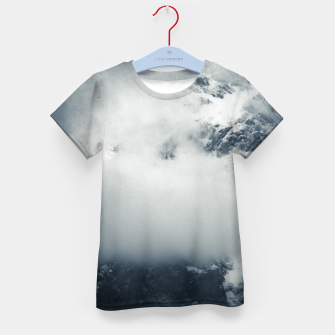 Thumbnail image of Darkness and mysterious clouds over the mountain Kid's t-shirt, Live Heroes