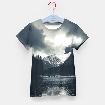Thumbnail image of Darkness and rain at Zgornje Jezersko, Slovenia Kid's t-shirt, Live Heroes