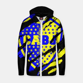 Thumbnail image of Boca Juniors 1905 CABJ Argetina Football Club Fans Zip up hoodie, Live Heroes