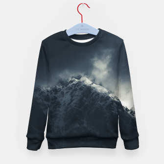 Miniature de image de Darkness and storm clouds over mountains Kid's sweater, Live Heroes